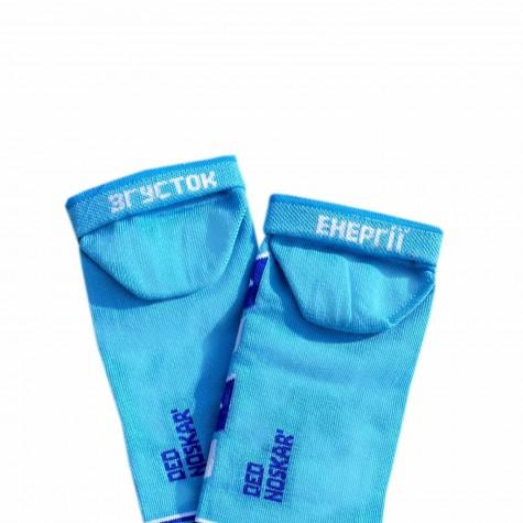 """Шкарпетки блакитні """"Згущене молоко"""" короткі Дед Носкарь"""