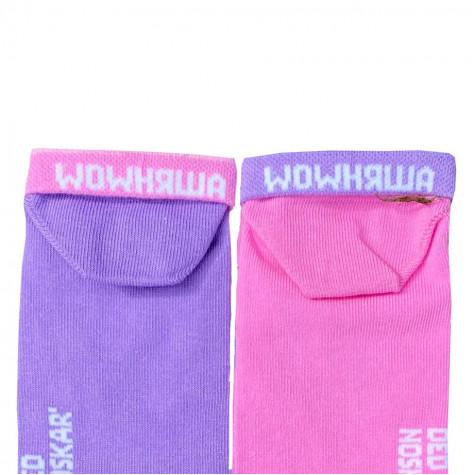 """Шкарпетки рожево-фіолетові """"Альпаки"""" короткі Дед Носкарь"""