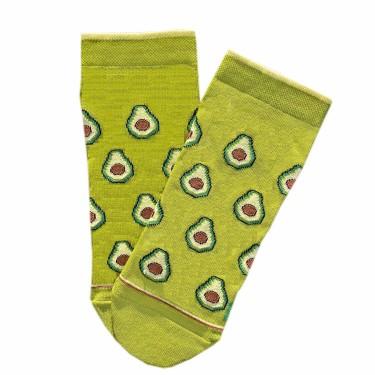 """Носки зеленые """"Авокадо"""" короткие Дед Носкарь"""