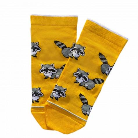 """Шкарпетки жовті """"Єноти"""" короткі Дед Носкарь"""