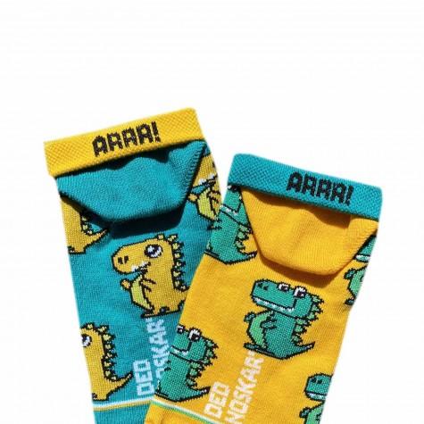 """Шкарпетки жовто-зелені """"Драко"""" короткі Дед Носкарь"""