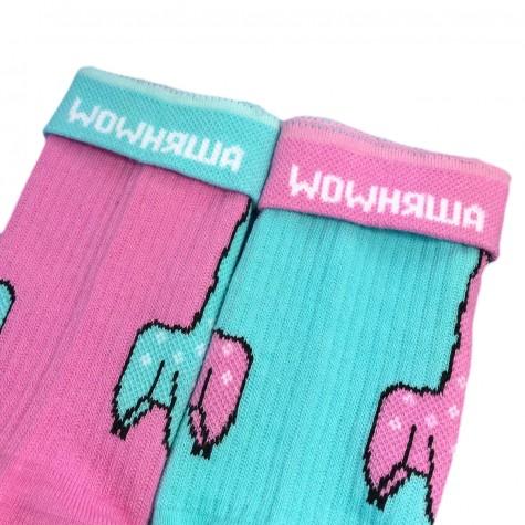 """Шкарпетки блакитно-рожеві """"Лами"""" Дед Носкарь"""