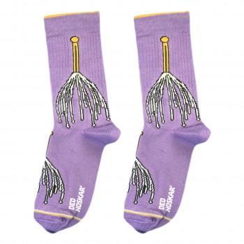 """Шкарпетки фіолетові """"Масажер для голови"""" Дед Носкарь"""