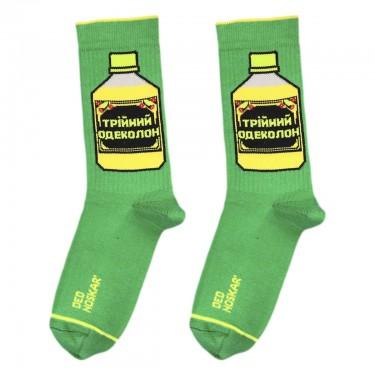 """Шкарпетки зелені """"Трійний одеколон"""" Дед Носкарь"""