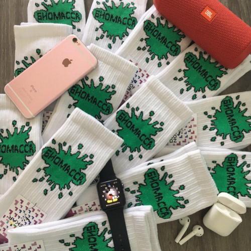 """Шкарпетки білі """"Биомасса"""" Дед Носкарь"""