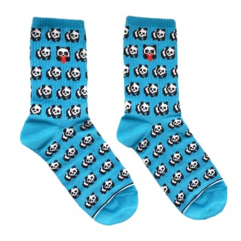 """Шкарпетки блакитні """"Панди"""" Дед Носкарь"""