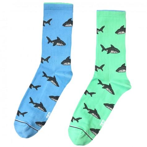 """Шкарпетки блакитно-бірюзові """"Акули"""" Дед Носкарь"""