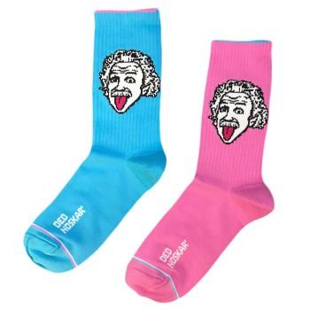 """Шкарпетки блакитно-рожеві Ейнштейн """"Доведу до сарказма"""" Дед Носкарь"""
