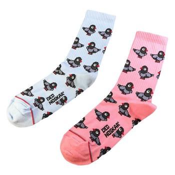 """Шкарпетки блакитно-рожеві """"Голуби"""" Дед Носкарь"""