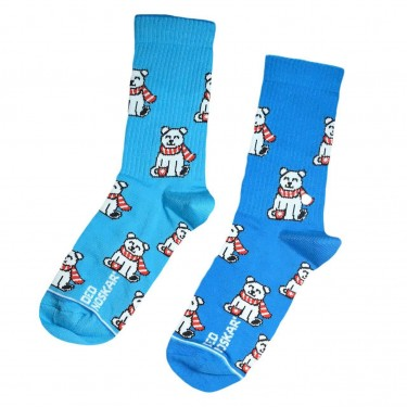 """Носки сине-голубые """"Happy Bear"""" Дед Носкарь"""