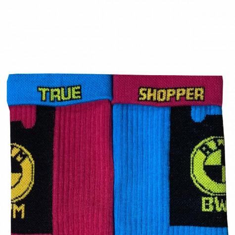 """Шкарпетки бордово-сині """"Чорний пакет BMW"""" Дед Носкарь"""