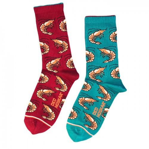 """Шкарпетки бордово-зелені """"Креветки"""" Дед Носкарь"""