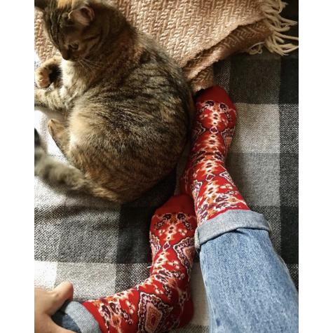 """Шкарпетки червоні """"Килим"""" Дед Носкарь"""