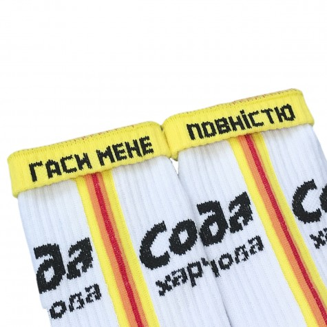 """Шкарпетки червоні """"Сода"""" Дед Носкарь"""
