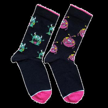 """Шкарпетки чорні """"Монстрики"""" Дед Носкарь"""