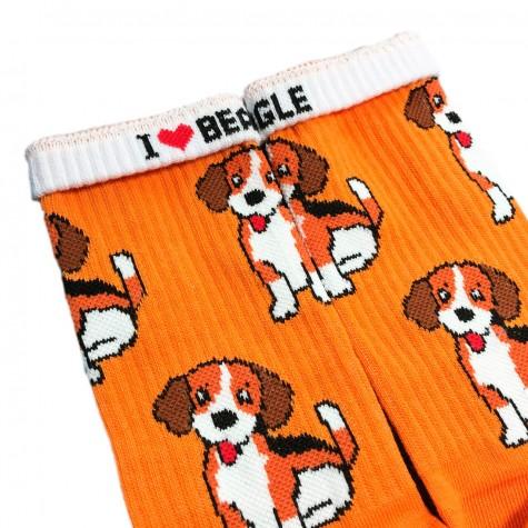 """Шкарпетки помаранчеві """"Бігль"""" Дед Носкарь"""