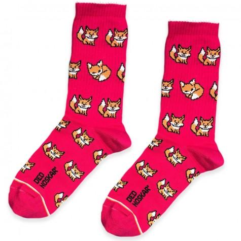 """Шкарпетки рожеві """"Лисички"""" Дед Носкарь"""