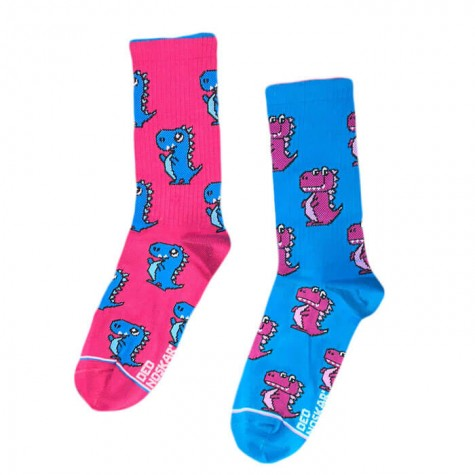 """Шкарпетки рожево-сині """"Драко"""" Дед Носкарь"""