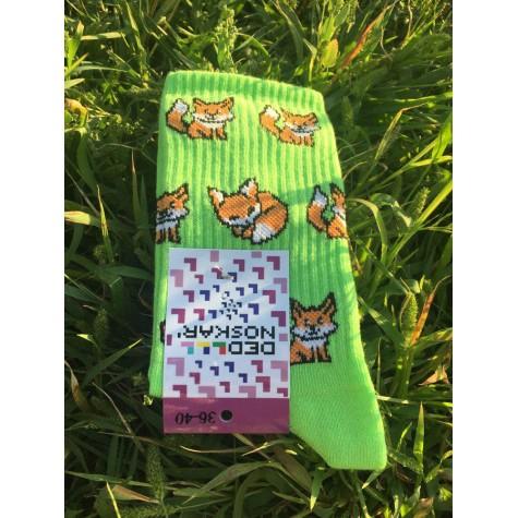 "Шкарпетки салатові ""Лисички"" Дед Носкарь"