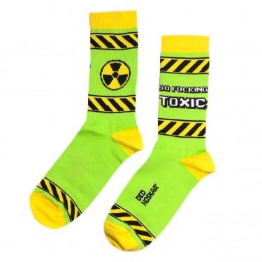 "Носки салатовые ""So fucking toxic"" Дед Носкарь"
