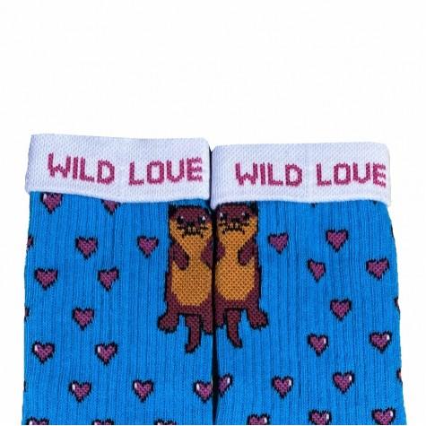 """Шкарпетки сині """"Видри"""" Дед Носкарь"""