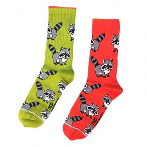 """Шкарпетки зелено-помаранчеві """"Єноти"""" Дід Носкар"""