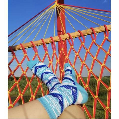 "Шкарпетки блакитні ""Згущене молоко"" Дед Носкарь"