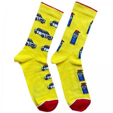 """Носки желтые """"Жигули"""" Дед Носкарь"""