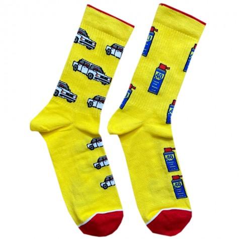"Шкарпетки жовті ""Жигулі"" Дед Носкарь"