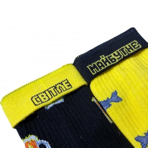 """Шкарпетки жовто-чорні """"Пиво - Риба"""" Дед Носкарь"""