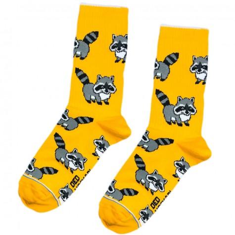 """Шкарпетки жовтогарячі """"Єноти"""" Дід Носкар"""