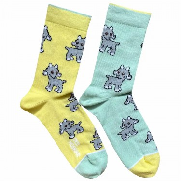 "Шкарпетки жовто-м'ятні ""Козенята"" Дед Носкарь"