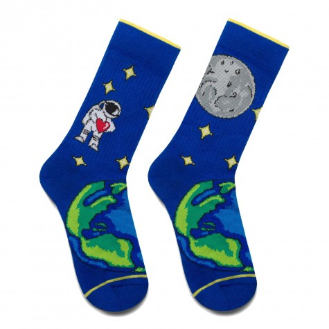 """Шкарпетки сині """"Космонавт"""" Дед Носкарь"""