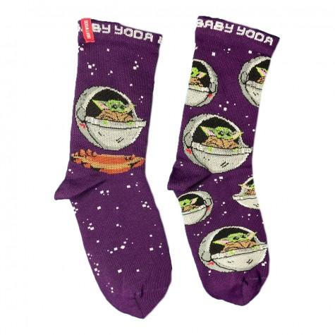"Шкарпетки фіолетові ""Space Baby Yoda"" Driftwood"
