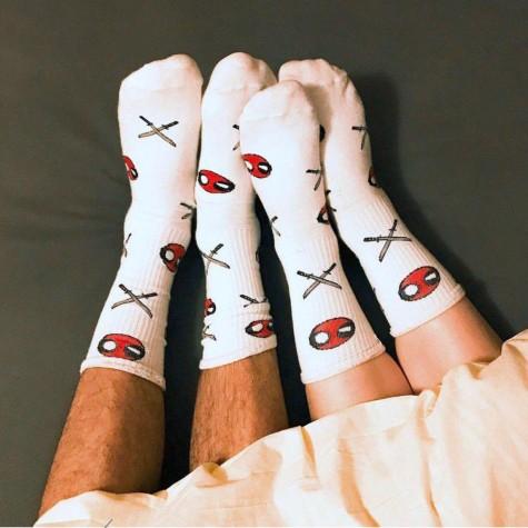 """Шкарпетки білі """"Дедпул"""" Geek Power"""