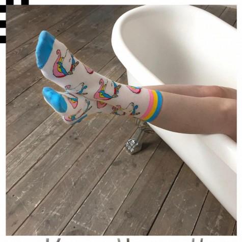 """Шкарпетки білі """"Єдиноріг"""" Geek Power"""