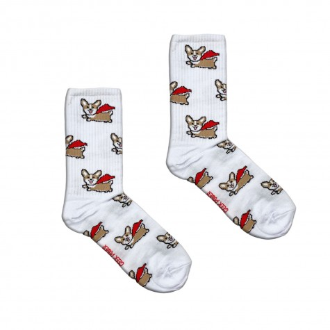 """Шкарпетки білі """"Супер Коргі"""" Geek Power"""
