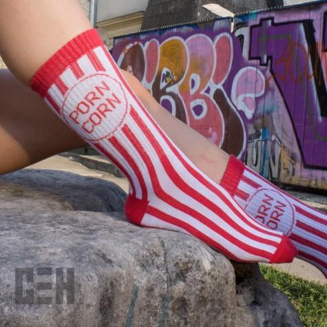 """Шкарпетки біло-червоні """"Porn Corn"""" CEH"""