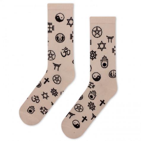 """Шкарпетки бежеві """"Знаки Релігій"""" CEH"""