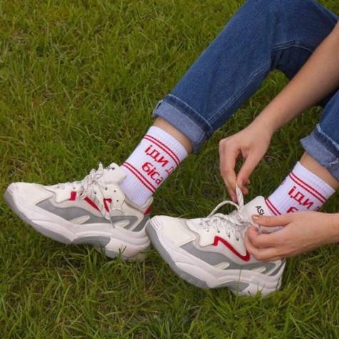 """Шкарпетки білі """"Іди до біса"""" CEH"""