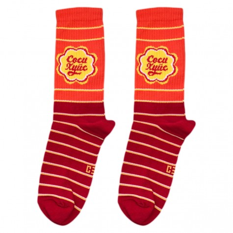 """Шкарпетки червоно-помаранчеві """"Чупа Чупс"""" CEH"""