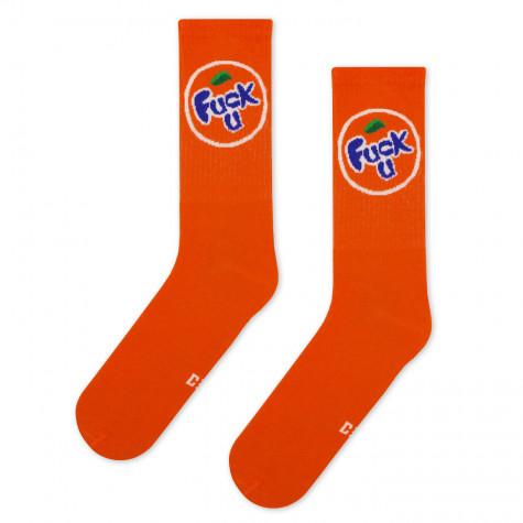 """Шкарпетки помаранчеві """"Fuck U"""" (Fanta) CEH"""