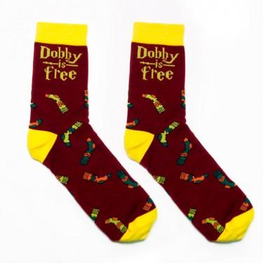 """Шкарпетки бордо """"Dobby Is free"""" (Доббі вільний) Just Cover"""