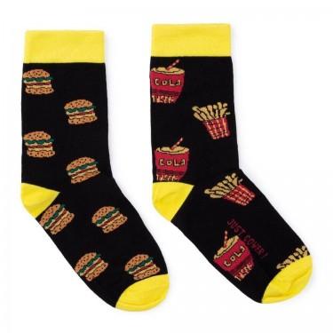 """Носки черные """"Fast Food"""" Just Cover"""