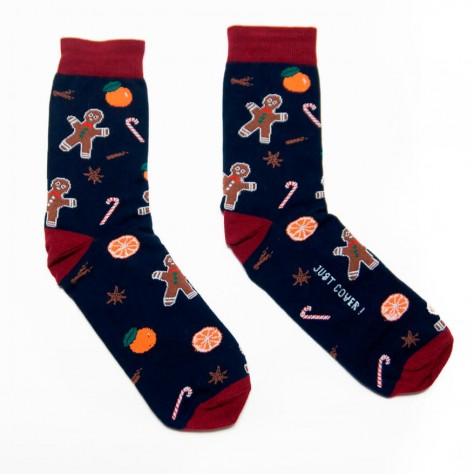 """Шкарпетки темно-сині """"Імбирний чоловічок"""" Just Cover"""