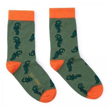 """Шкарпетки зелені """"Прибульці"""" Just Cover"""
