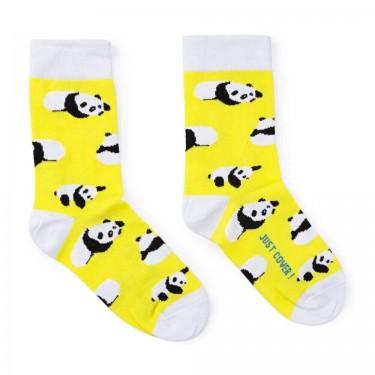 """Шкарпетки жовті """"Сонячні панди"""" Just Cover"""