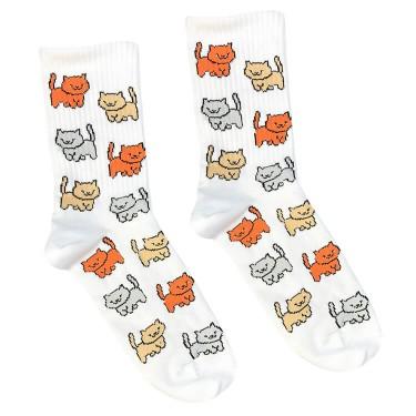 """Шкарпетки білі """"Котики"""" Sunny Focks"""