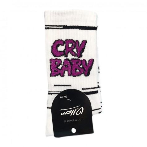 """Носки белые """"Cry Baby"""" О, нет"""
