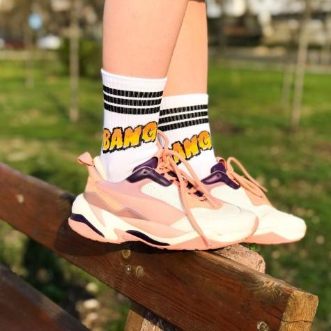 """Шкарпетки білі """"BANG"""" О, нет"""